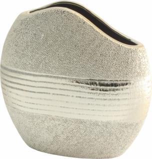 GILDE moderne Vase aus der Champagner Keramik Serie, 20 cm