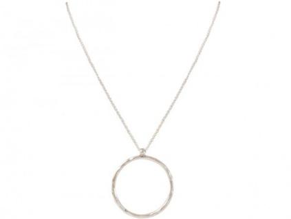 Halskette Anhänger Eternity Kreis Minimalistisch Design Silber 80 cm