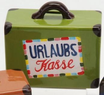 formano Spardose Sparbüchse Koffer in Grün aus Keramik, 15 cm