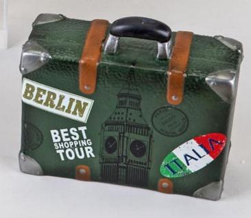formano nostalgische Spardose Sparbüchse Koffer, grün, 15 cm