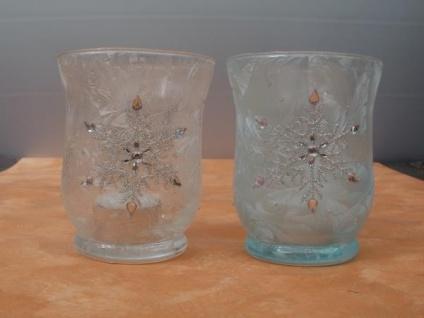 2 Windlichter Eiskristall - Vorschau 3