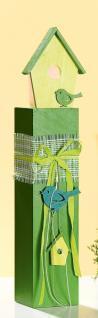 GILDE Deko-Ständer als Windlicht in Grün mit Häuschen, 56 cm