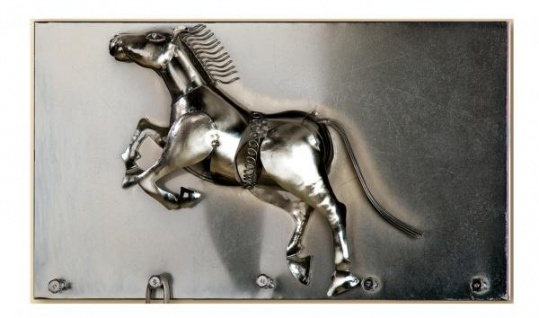 GILDE Schlüsselleiste Pferd aus Metall, 35, 5 x 20 cm