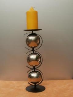 Kerzenständer Kugel aus Metall, 34 cm hoch