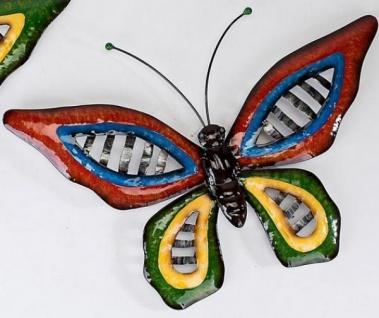 Schmetterling Wave Metall, mit großen roten Flügeln 46 cm