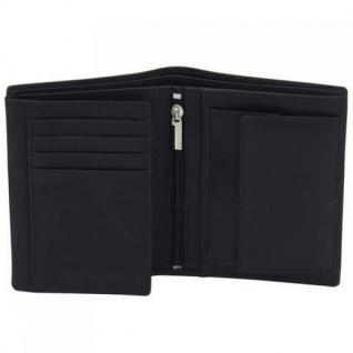Friedrich Lederwaren Geldbörse Leder schwarz braun RFID Schutz 12, 5 cm - Vorschau 1