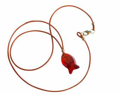 Halskette Anhänger Fisch Rot MADE WITH SWAROVSKI ELEMENTS®