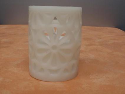 LED Deko Kerze Blume, 10 cm hoch