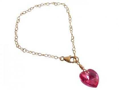 Herz Armband Vergoldet Rosa MADE WITH SWAROVSKI ELEMENTS®
