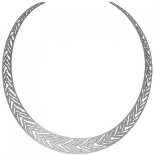 Offener Halsreif Halskette Kette aus Edelstahl 40 cm