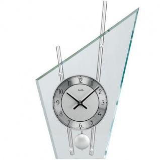AMS 153 Tischuhr mit Pendel Quarz, silber lackierte Metallstäbe