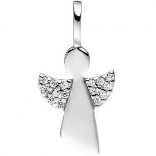 Anhänger Engel 925 Sterling Silber mit Zirkonia Schutzengel
