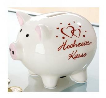GILDE Spardose Sparschwein Hochzeitskasse, 11x14x11 cm
