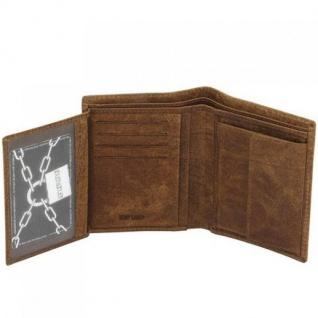 Geldbörse VINTAGE LINE Wasserbüffel Leder braun mit RFID Schutz - Vorschau 3