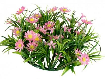 künstlicher Blumenkranz Türkranz grün rosa rot Gänseblümchen Ø 26 cm