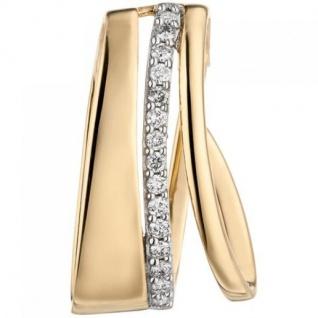 Anhänger 585 Gelbgold 15 Diamanten Brillanten Diamantanhänger