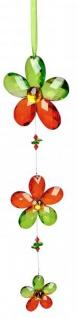 Fensterdeko Acryl Hänger Blume Acryl rot grün 35 cm Sonnenfänger