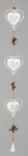 formano Dekohänger Herz mit Blume aus Metall, 9x68 cm