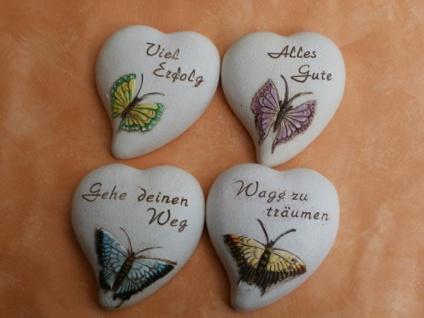 Herz mit Spruch und Schmetterling