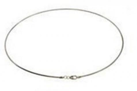 42 cm Omega Halsreif - 333 Weißgold - 1, 5 mm Halskette
