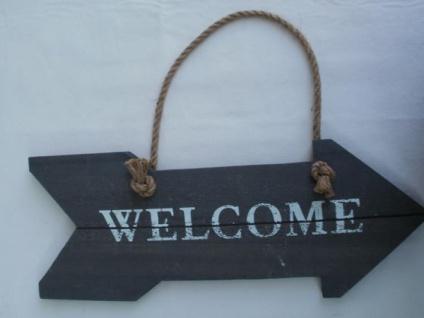 Türschild Welcome, Länge 38 cm