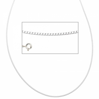 Venezianerkette 925 Silber rhodiniert 42 cm Halskette Federring