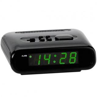 Atlanta 156/7 Wecker Netzwecker digital schwarz grün mit Snooze