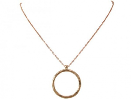 Halskette Anhänger Eternity Kreis Minimalistisch Design Rose 45 cm