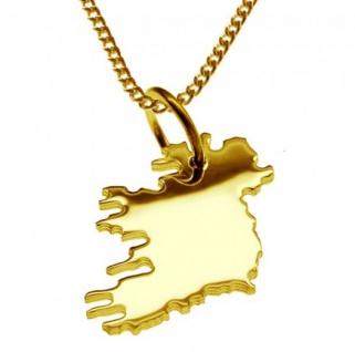 IRLAND KOMPLETT Kettenanhänger aus massiv 585 Gelbgold mit Halskette