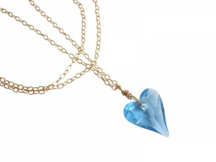 Herz Halskette Anhänger Wild Heart Blau SWAROVSKI ELEMENTS®