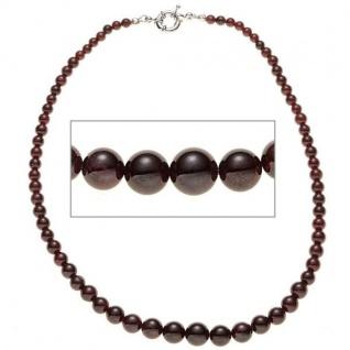 Halskette Granat Verlauf 45 cm Federring