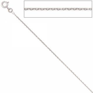 Ankerkette 585 Weißgold 1, 3 mm 45 cm Gold Kette Halskette Federring