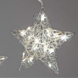 Formano LED Deko Hänger Draht Stern mit kleinen Sternchen 40 cm Metall
