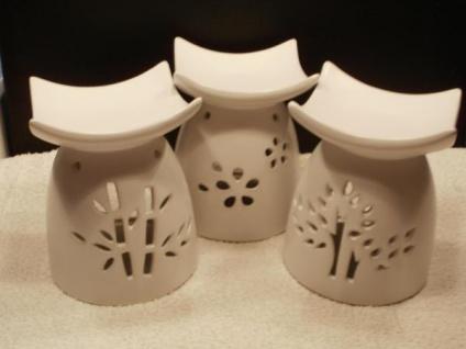 3 Duftlampen Asia aus Keramik