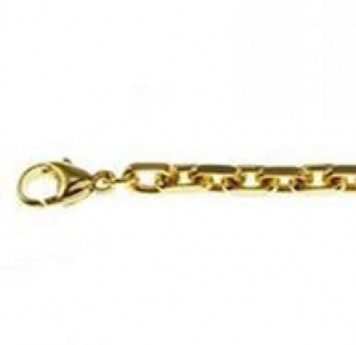 19 cm Ankerkette Armband - 585 Gelbgold - 4 mm