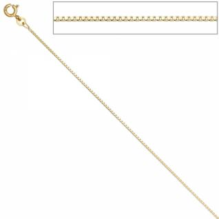 Venezianerkette 333 Gelbgold 42 cm - 1 mm Halskette Federring