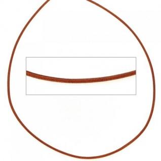 Lederschnur orange ca. 100 cm lang Halskette Leder