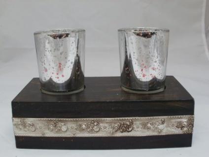 Teelichthalter-Set Ritter für 2 Teelichter