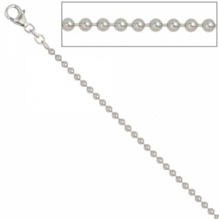 Kugelkette 925 Silber 2, 5 mm 50 cm Halskette Silberkette Karabiner