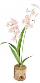 Künstlich blühende rosa Zwiebelbume Frühlingsblüher grün rosa 34 cm