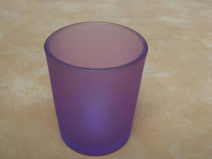 Votivglas lila aus satiniertem Glas