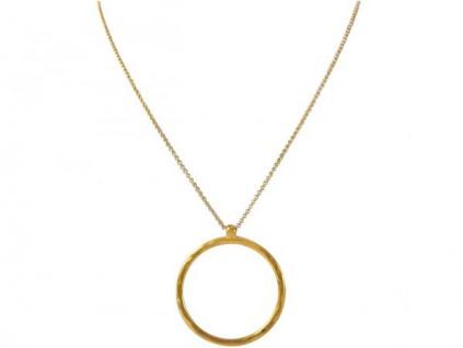 Halskette Anhänger Eternity Kreis Geometrisch Design Gold 80 cm