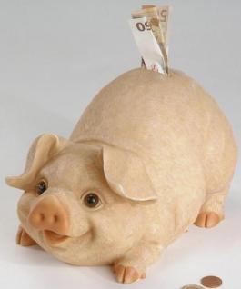 formano Spardose Sparschwein aus Keramik naturfarben, 27 cm