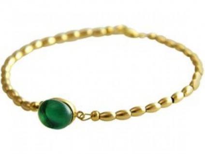 Gemshine Damen Armband Vergoldet Quarz Grün 18 cm