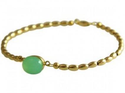 Gemshine Damen Armband Vergoldet Chalcedon MeeresGrün 18 cm