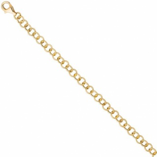 Rundankerarmband 925 Sterling Silber Gold vergoldet 19 cm Armband