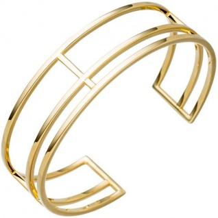 Armspange / offener Armreif 925 Silber gold vergoldet mehrreihig
