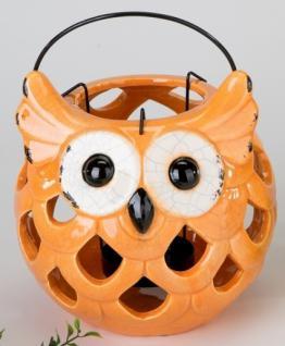 formano Windlicht Eule Summertime, 18 cm orange
