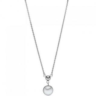 Collier Kette mit Anhänger Edelstahl 1 Süßwasser Perle 45 cm