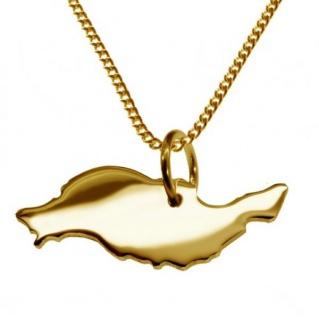 LANZAROTE Kettenanhänger aus massiv 585 Gelbgold mit Halskette